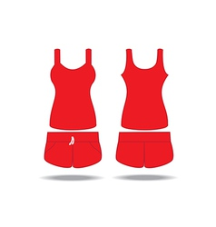 Singlet and shorts vector