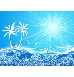 Tropical blue background vector