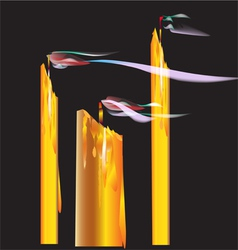 Candles blown off vector