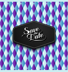 Handwritten save the date label vector