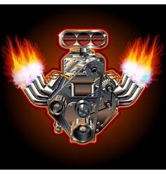Cartoon turbo engine vector
