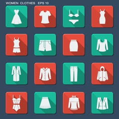Fashion clothes for women vector