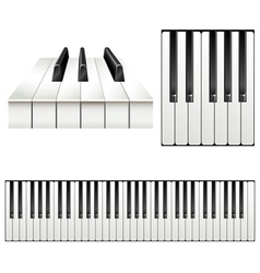 Piano key set vector