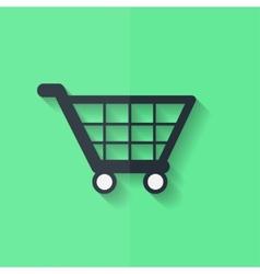 Shopping basket icon flat design vector