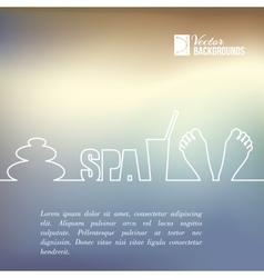 Spa design vector