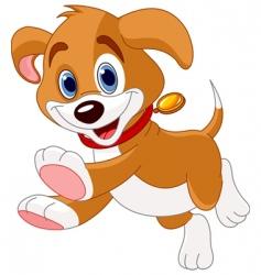 Running funny puppy vector