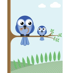 Mother bird vector