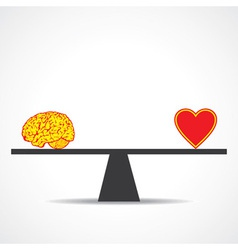 Compare mind with heart vector