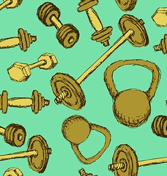 Sketch weights in vintage style vector