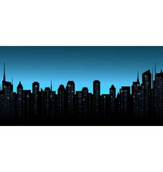 Night city background with business office and vector