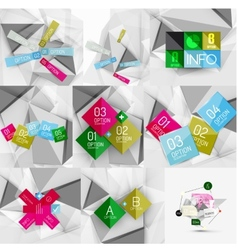 Set of paper graphic infographic modern template vector