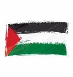 Grunge palestine flag vector