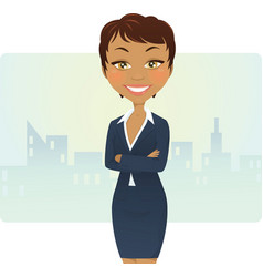 Cute businesswoman vector