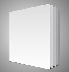Empty book layout vector