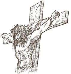 Jesus hand draw vector