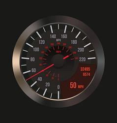 Car dashboard speedometer vector