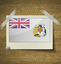 Flags british antarctic territory at frame on a vector