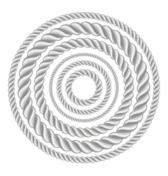 Circle ropes vector