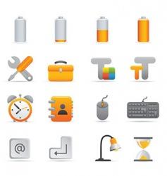 Yellow computer icons vector