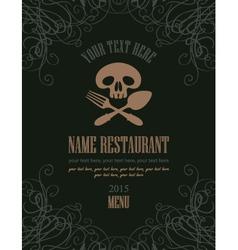 Jolly roger menu vector