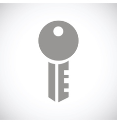 Key black icon vector