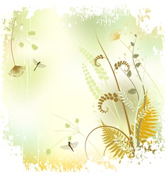 Plant background - the meadow in summer time vector