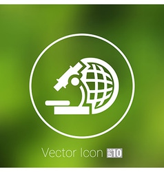 Microscope icon scientist virus isolated graphic vector