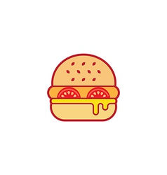 Hamburger colorful icon vector