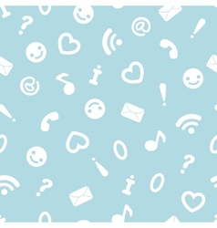 Internet symbols seamless pattern background vector
