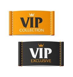 Vip collection and vip exclusive labels vector