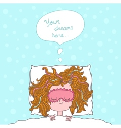 Abstract about girl dreams and wishes vector