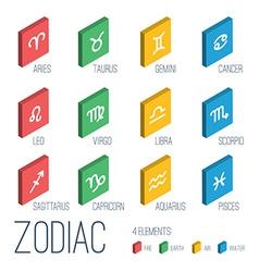 Icons set - zodiac signs vector