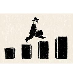 Jumping businessman vector