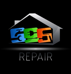 Design for repair of houses vector