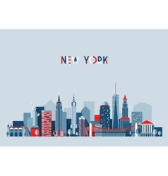 New york city architecture vector