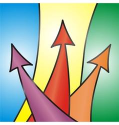 Abstract arrow background vector