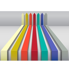 Multi colored arrows vector