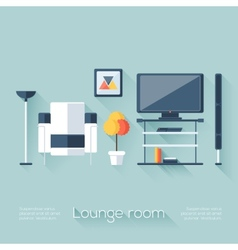 Lounge or sitting room cover vector