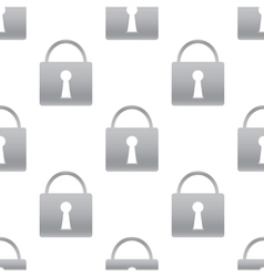 Grey padlock pattern vector