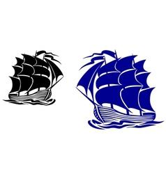 Galleone ship vector