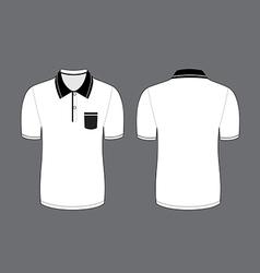 White polo t shirt vector
