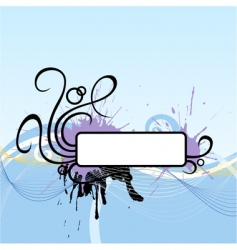Scroll vignette vector