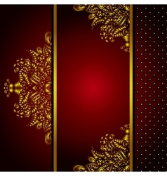 Royal golden frame menu card vector