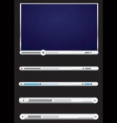 Browser video players black background vector