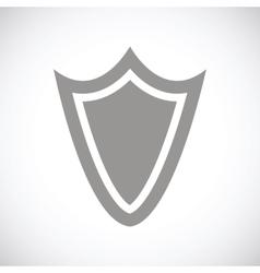 Shield black icon vector