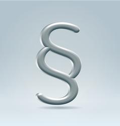 Metallic section mark vector