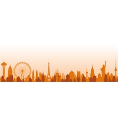 Cityscape background vector