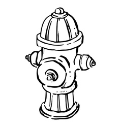 Fire hydrant line drawing vector