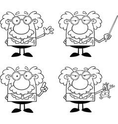 Cartoon professor vector
