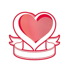 Loving heart symbol vector